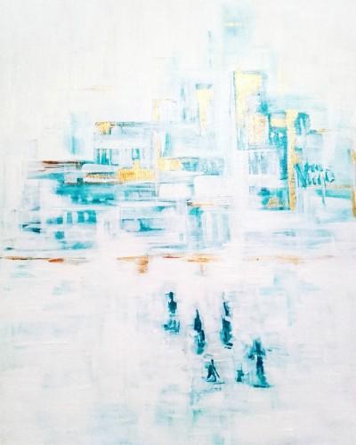 """Vilijos M. tapyba, paveikslas """"Auksiniai žmonės"""""""