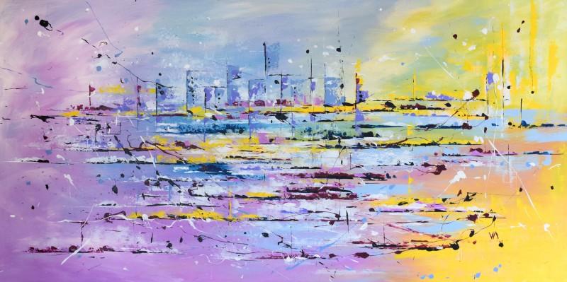 """Vilijos M. tapyba, paveikslas """"Laisvi gyventojai"""""""