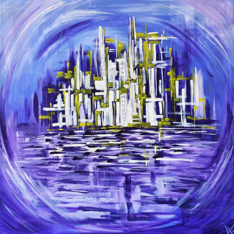"""Vilijos M. tapyba, paveikslas """"Miestai"""""""