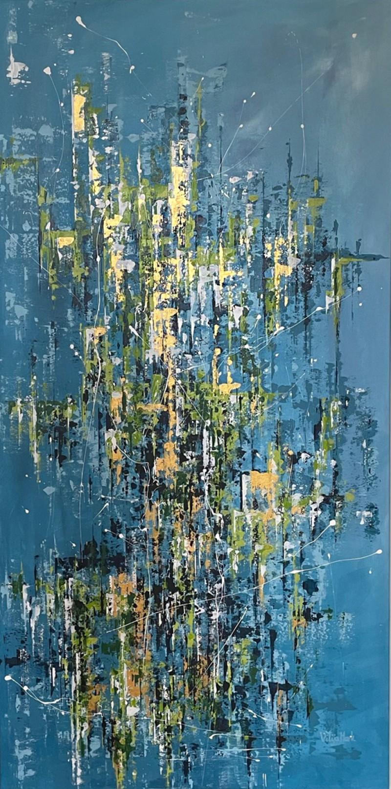 """Vilijos M. tapyba, paveikslas """"Miesto džiunglės I"""""""