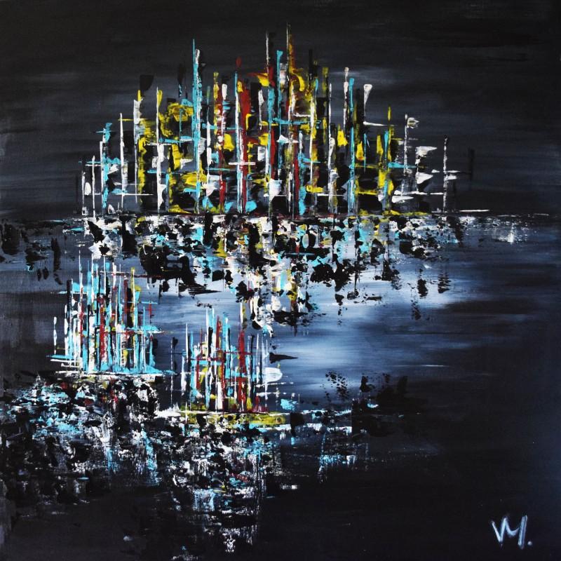 """Vilijos M. tapyba, paveikslas """"Miesto profilis"""""""