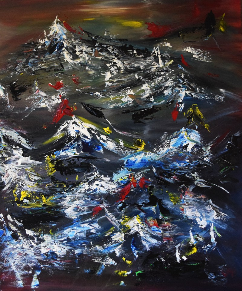 """Vilijos M. tapyba, paveikslas """"Naktis alpėse"""""""