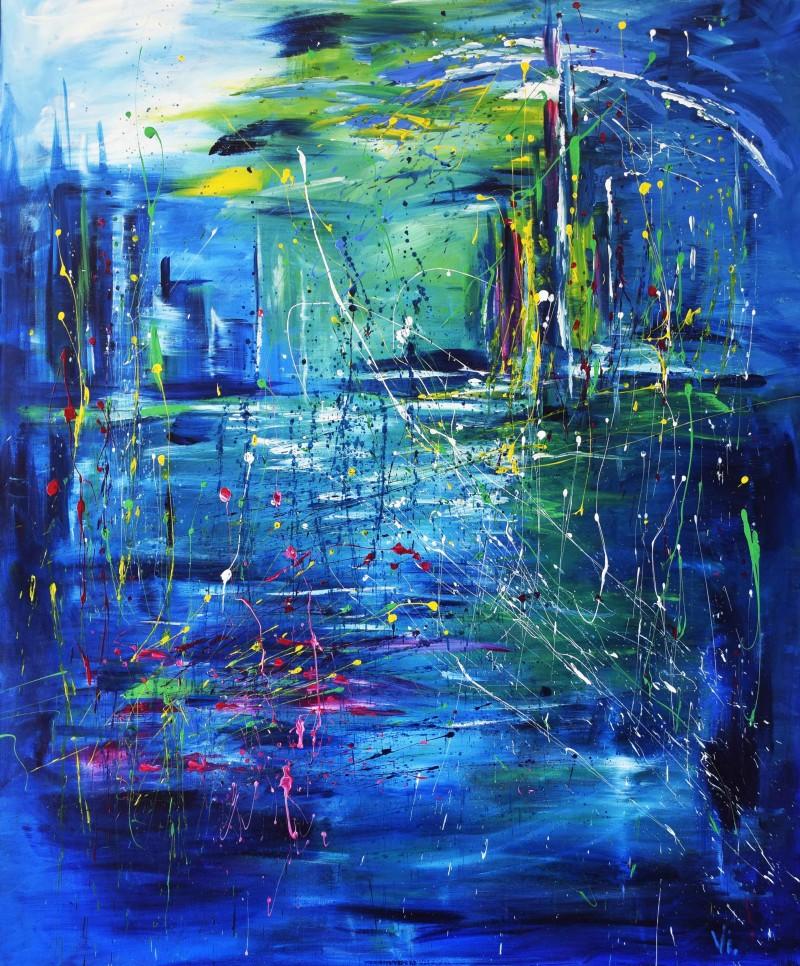 """Vilijos M. tapyba, paveikslas """"Niujorkas"""""""