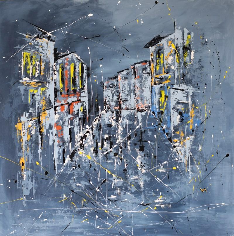 """Vilijos M. tapyba, paveikslas """"Į namus"""""""