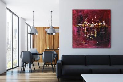 """Vilijos M. tapyba, paveikslas """"Palydovai"""""""