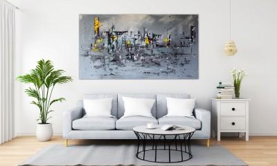 """Vilijos M. tapyba, paveikslas """"Pakeleiviai"""""""