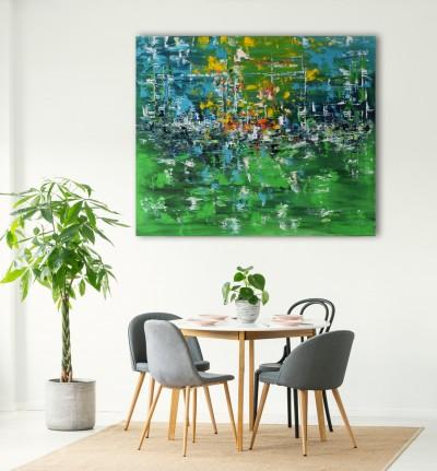 """Vilijos M. tapyba, paveikslas """"Pavasario dienoraštis"""""""