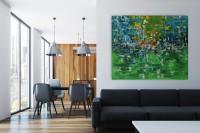 """Vilijos M. tapyba, paveikslas """"Toliai"""""""