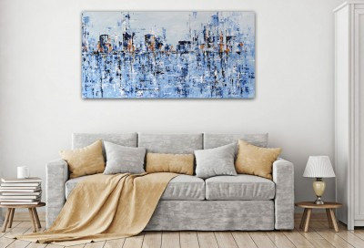"""Vilijos M. tapyba, paveikslas """"Vakarėjant"""""""