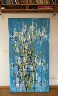 """Vilijos M. tapyba, paveikslas """"Miesto džiunglės II"""""""