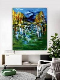 """Vilijos M. tapyba, paveikslas """"Tvin Pykso kalnuos"""""""