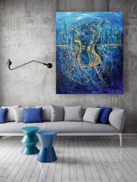 """Vilijos M. tapyba, paveikslas """"Ji ir fonas"""""""