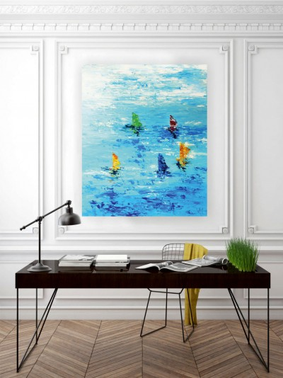 """Vilijos M. tapyba, paveikslas """"Kelionė"""""""