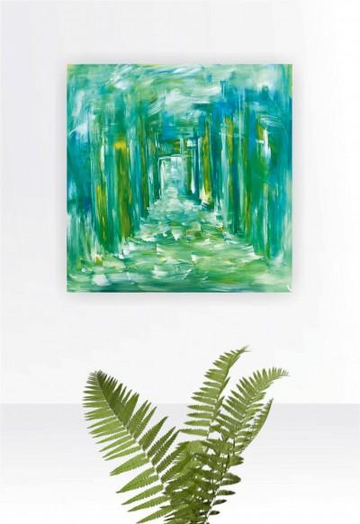 """Vilijos M. tapyba, paveikslas """"Išėjimas"""""""