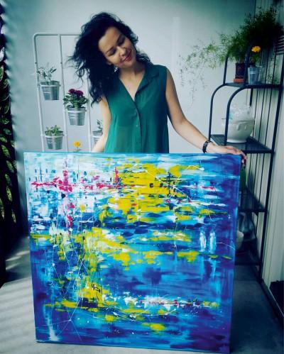 """Vilijos M. tapyba, paveikslas """"Dviese"""""""