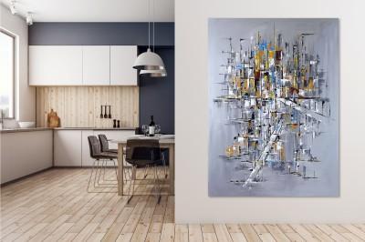 """Vilijos M. tapyba, paveikslas """"Miesto kodai"""""""