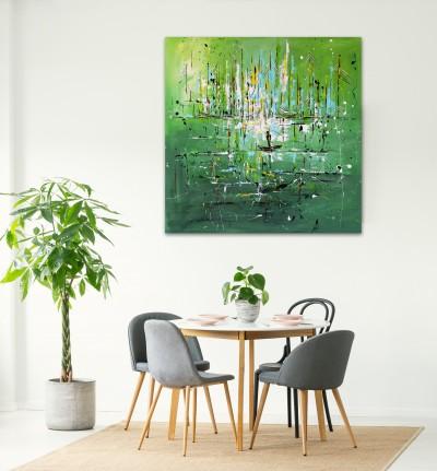 """Vilijos M. tapyba, paveikslas """"Tėkmė"""""""