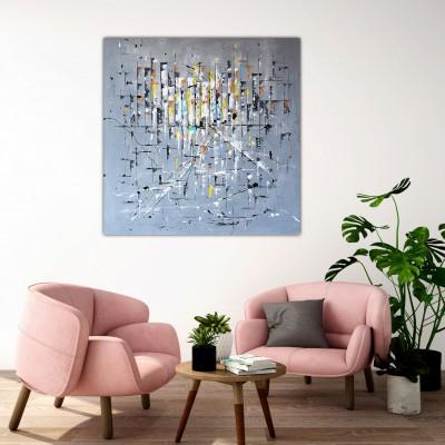 """Vilijos M. tapyba, paveikslas """"Miesto horizontai"""""""