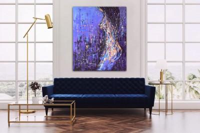 """Vilijos M. tapyba, paveikslas """"Levandos"""""""