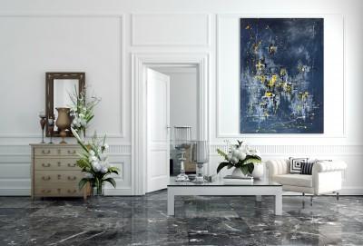 """Vilijos M. tapyba, paveikslas """"Vakaras rūke"""""""