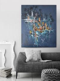 """Vilijos M. tapyba, paveikslas """"Žvaigždžių žemėlapis"""""""