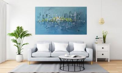 """Vilijos M. tapyba, paveikslas """"Mėlynoji pakrantė"""""""