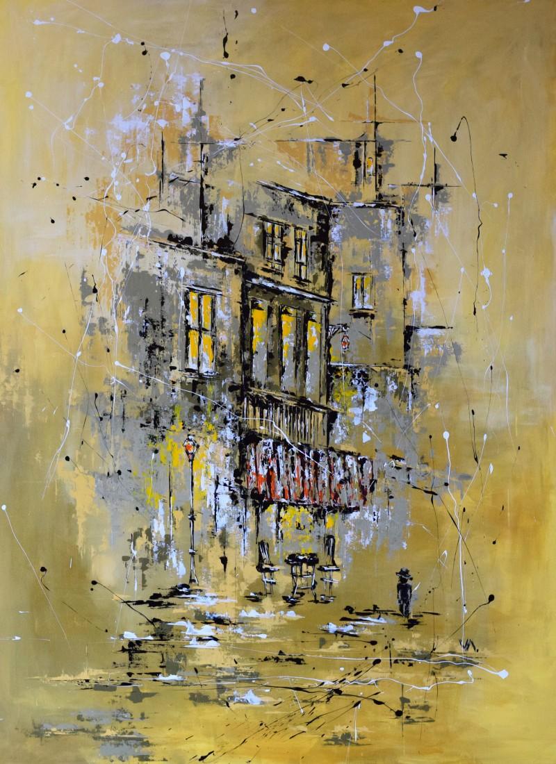 """Vilijos M. tapyba, paveikslas """"Popietė Avinjone"""""""