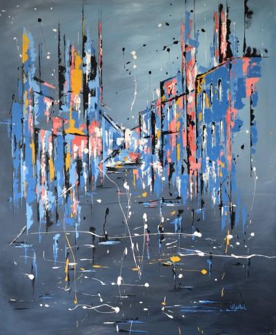 """Vilijos M. tapyba, paveikslas """"Refleksija"""""""