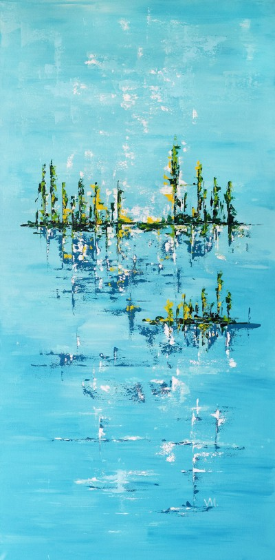 """Vilijos M. tapyba, paveikslas """"Salos"""""""