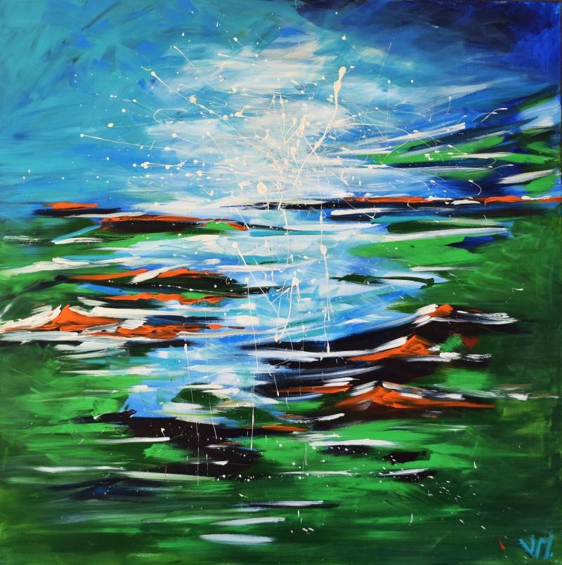 """Vilijos M. tapyba, paveikslas """"Toli ten"""""""