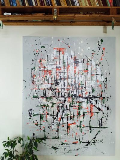 """Vilijos M. tapyba, paveikslas """"Vitrinų atspindžiai"""""""